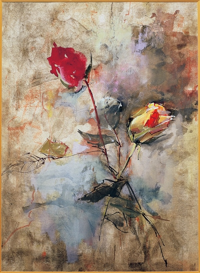 Watercolor Roses- Clark Hulings-small