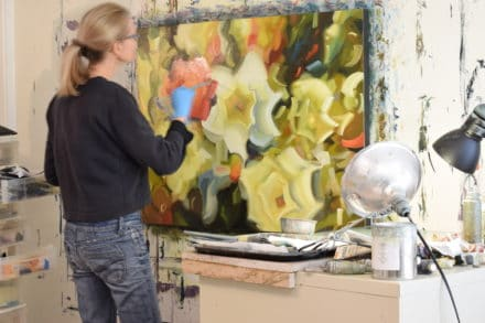 Holly Van Hart in her studio-resized