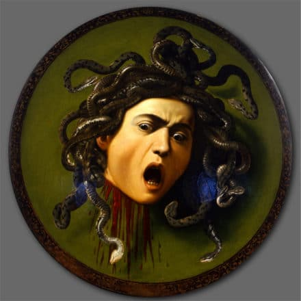 Shield with Medusa's Head by Michelangelo Merisi da Caravaggio