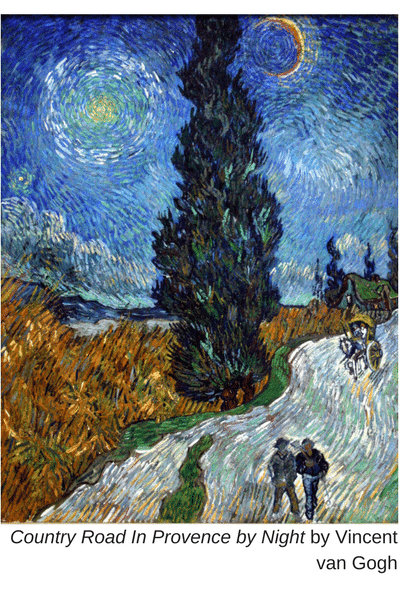 Country Road In Provence by Night by Vincent van Gogh (1)