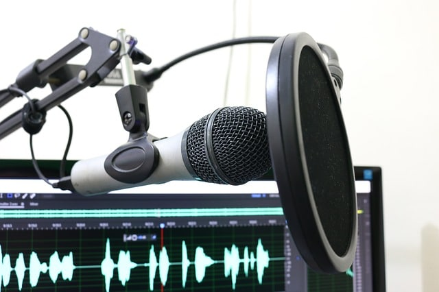 The Thriving Artist podcast microphone