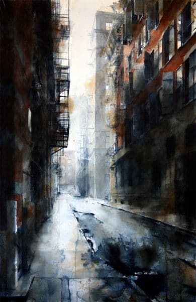 Tim Saternow Cortlandt Alley morning rain
