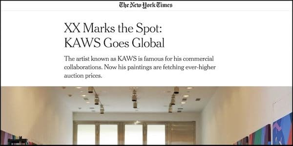 Letter to Editor -NYT re: KAWS piece