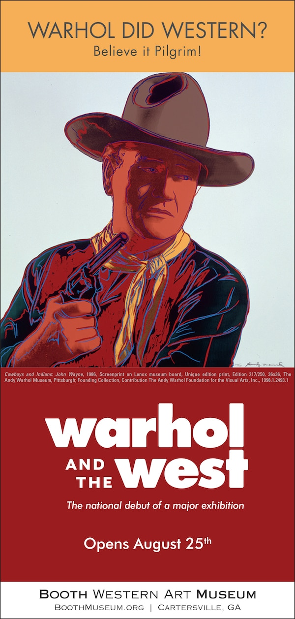 Booth Museum ad for the Warhol exhibition
