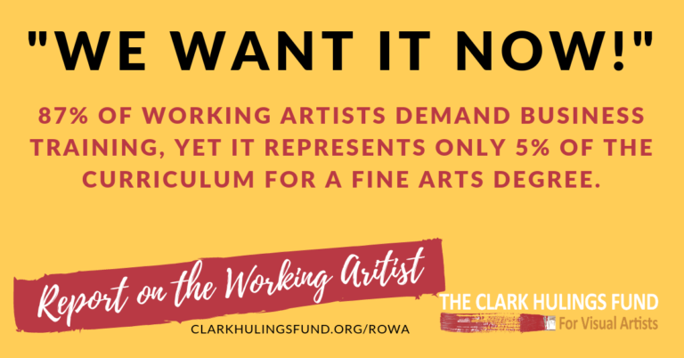 Artists Demand Business Training ROWA Now