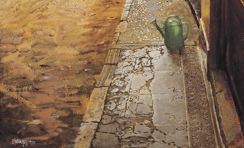 crop of The Green Watering Can, by Clark Hulings
