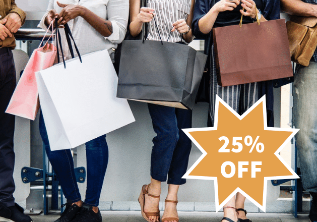 25% off for Giving Tuesday