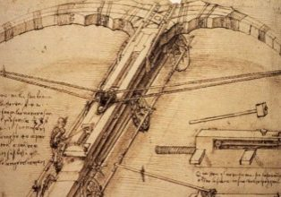 Leonardo Da Vinci cross bow sketch