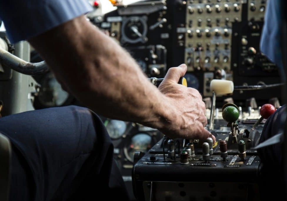 Person operating a control board